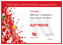 trophee meilleur revendeur Wavesoft, Alp'infor