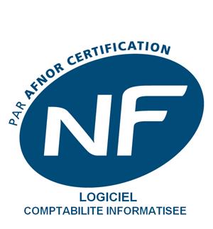 Logo de certification Afnor pour logiciels comptable informatisés